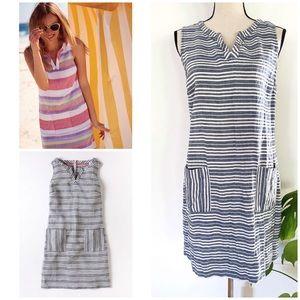 Boden Striped Everyday Linen Tunic Dress 10 M
